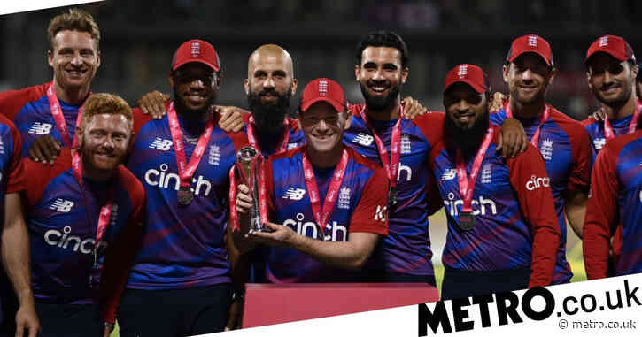 Eoin Morgan reacts as England win thrilling T20 series decider against Pakistan