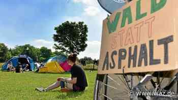 Klimacamp gegen Autobahnausbau in Oberhausen geht weiter - Westdeutsche Allgemeine Zeitung