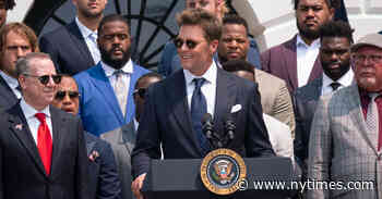 Tom Brady Jokes About Election Results as Buccaneers Visit White House