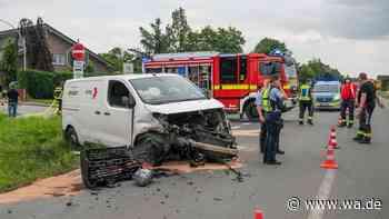Drei Verletzte bei Unfall mit Amazon-Transporter in Drensteinfurt-Walstedde - wa.de