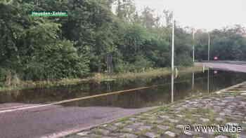 Op- en afrit E314 in Heusden-Zolder afgesloten wegens wateroverlast - TV Limburg