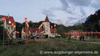 Kunstinstallation leuchtet zum letzten Mal in Schloss Blumenthal - Augsburger Allgemeine