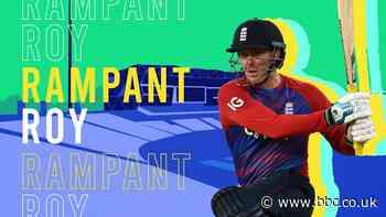England v Pakistan T20: 'He's on fire!' - watch the best shots as Jason Roy hits 64