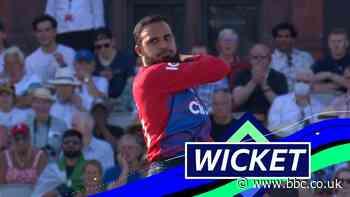 England v Pakistan T20: Early breakthrough for England as Adil Rashid dismisses Babar Azam