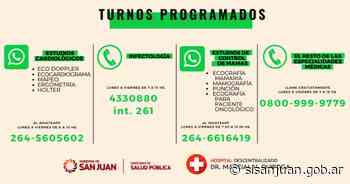 Conocé las vías para obtener turno en el Hospital Marcial Quiroga - SI SAN JUAN