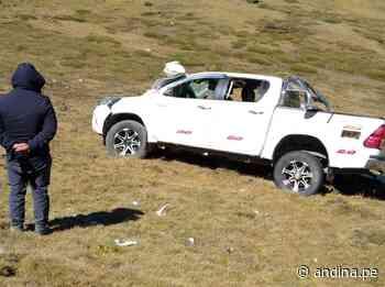 Junín: madre fallece y tres hijos resultan heridos tras vuelco de camioneta en Huancayo - Agencia Andina