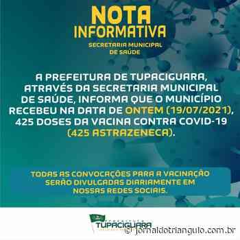 Novas doses de vacina para Tupaciguara/MG!!!!!! - Jornal do Triângulo