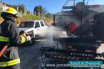 Incêndio em caminhão de piche é registrado na Rua Ribeirão Souto - Jornal de Pomerode