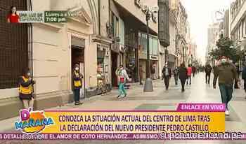 Jirón de la Unión: actividades se desarrollan con normalidad tras proclamación de Castillo - Panamericana Televisión