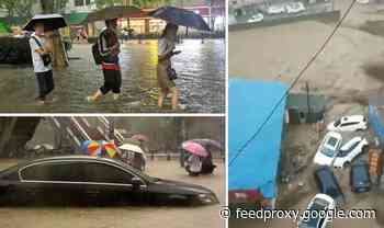 China horror floods as entire region ravaged by worst rain in 60 years – fears many dead