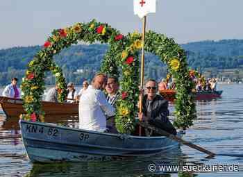 Radolfzell: Prozession in Kleinformat: Mooser pilgern in reduzierter Zahl über den See - SÜDKURIER Online