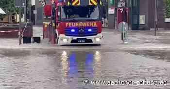 Schreckmoment für Feuerwehr beim Hochwasser in Geilenkirchen - Aachener Zeitung