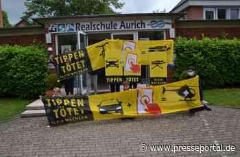 POL-AUR: Schülerinnen und Schüler in Aurich machen mit Rucksackaktion auf das Problem der Handynutzung am Steuer aufmerksam - Presseportal.de