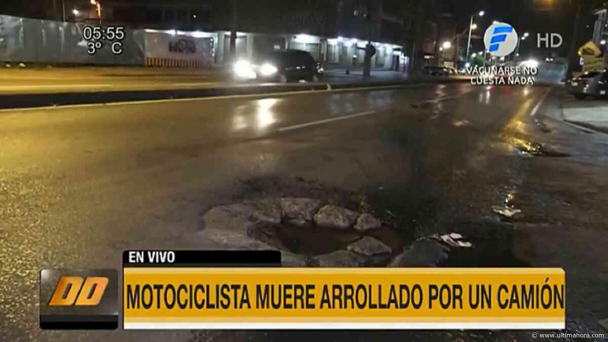 Tragedia a causa de un bache en Fernando de la Mora - ÚltimaHora.com