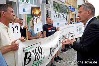 Riesa: B-169-Demo bei Ministerbesuch - Sächsische.de