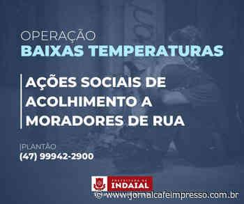 Prefeitura de Indaial prepara ações para acolhimento a moradores de rua durante frio intenso nesta semana - Jornal Café Impresso