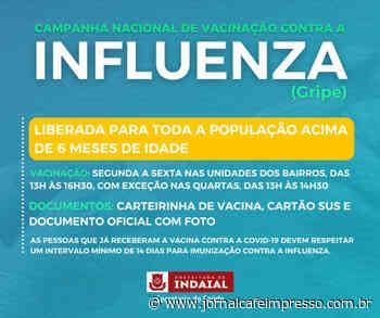 Indaial libera vacinação contra a Influenza para pessoas acima de 6 meses de idade - Jornal Café Impresso