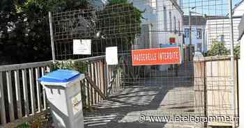 La passerelle de l'Alma détruite et remplacée provisoirement - Le Télégramme
