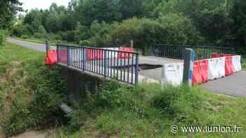 Le pont s'effondre suite aux intempéries près de Soissons à Rozières-sur-Crise - L'Union