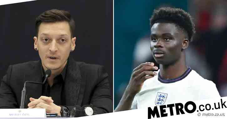Mesut Ozil sends message to former Arsenal team-mate Bukayo Saka over Euro 2020 penalty miss and racist abuse