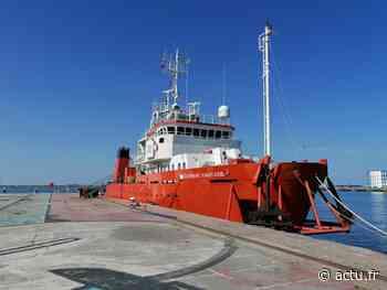 Eolien en mer : en escale à Cherbourg, un bateau engagé pour des sondages au large de la Normandie - La Presse de la Manche