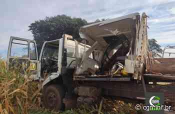 Grave acidente envolvendo caminhões é registrado na PR 495, em Santa Helena - CGN