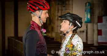 Derbyshire couple marry in lycra cycling gear after delaying wedding three times - Derbyshire Live