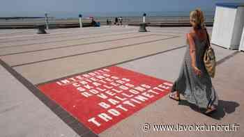 Digue de Wimereux : les interdictions s'étalent désormais en rouge vif au sol - La Voix du Nord
