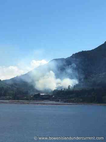 Crews holding wildfire near Port Mellon - Bowen Island Undercurrent