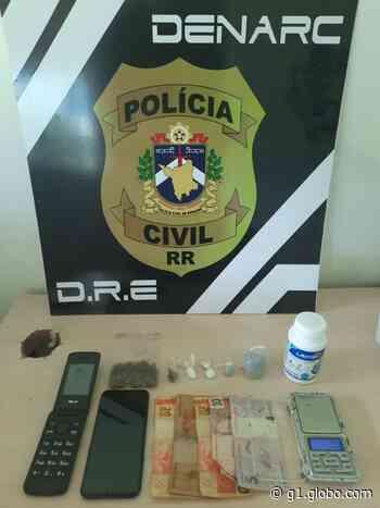 Jovem é preso por suspeita de tráfico de drogas em Boa Vista - G1
