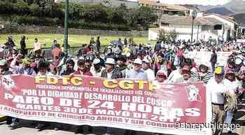 Cusco acata paro regional por alza de costo de vida y conclusión de hospital - LaRepública.pe