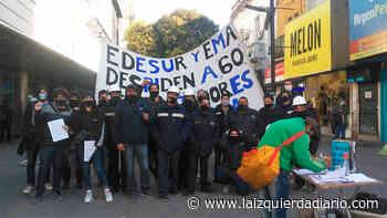 Trabajadores de EMA vuelven al centro de Quilmes contra los despidos y los cortes de luz - La Izquierda Diario