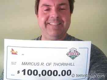Thornhill man waits for more than a year to collect $100Gs lottery prize - Toronto Sun