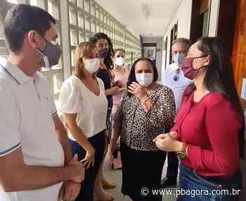 Secretária Ana Cláudia recebe anúncio da Patrulha Maria da Penha em CG - PBAGORA - A Paraíba o tempo todo