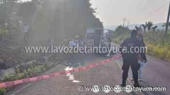 20/07/2021 Muere joven motociclista en accidente - La Voz De Tantoyuca