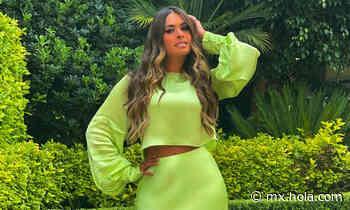 El verde neón, el color de Galilea Montijo para brillar - MX.HOLA.COM