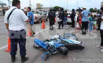 Otro choque entre moto y auto en Santa Ana Pacueco - Brunoticias