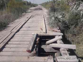 Urge reparación de puentes en camino que conduce a Fuerte Olimpo - Nacionales - ABC Color