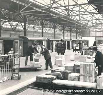 Parcels for East Lancs sorted at Burnley Central Station