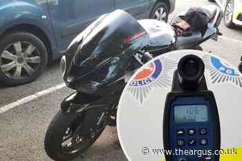 Motorcyclist clocked speeding at 106mph on A27