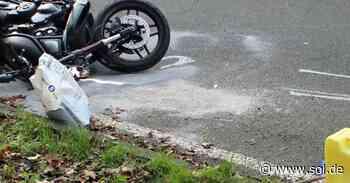 Motorradfahrer (21) lebensgefährlich verletzt - Unfall bei Illingen - sol.de