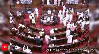 Unruly behaviour by TMC MPs in Rajya Sabha prompts backlash on Twitter