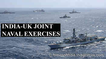 UK's Carrier Strike Group and Indian Navy conduct joint exercises in Bay of Bengal