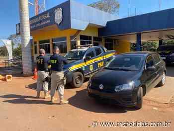 PRF recupera em Guia Lopes da Laguna (MS) veículo roubado em Campo Grande (MS) - MS Notícias