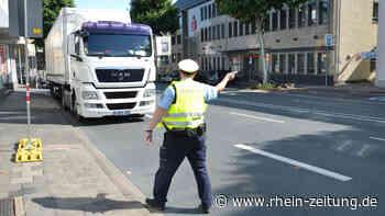 Lkw-Fahrer ignorieren Umleitung: Stadt bringt Lastwagen in Limburg auf die Spur in Richtung Diez - Rhein-Zeitung