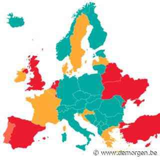 Brussel kleurt opnieuw rood op coronakaart: dit zijn de Europese reisadviezen