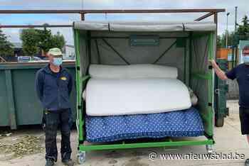 Containerparken in regio zamelen gratis afgedankte matrassen in