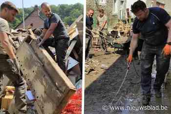 Politieagenten uit Gent helpen ravage opruimen in Waals dorpje
