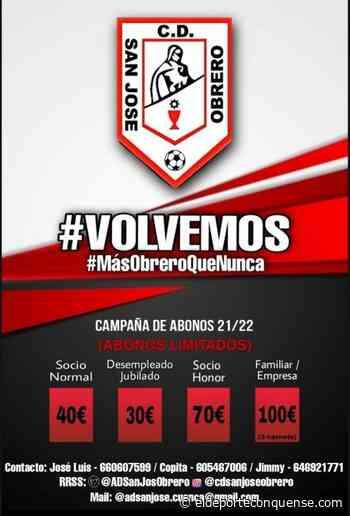 Comienza la campaña de abonos para el CD San José Obrero - El Deporte Conquense