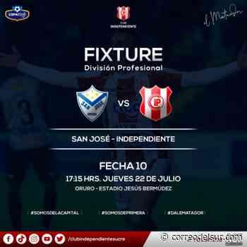 Adelantan el horario del partido entre San José e Independiente - Correo del Sur